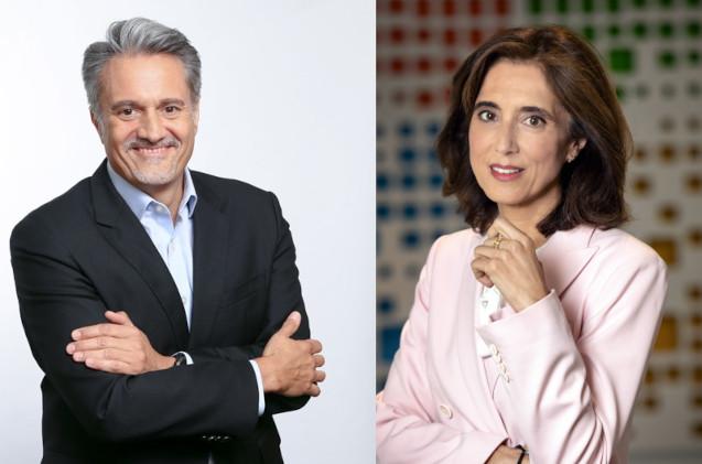 Alberto Granados y Pilar López, de Microsoft.