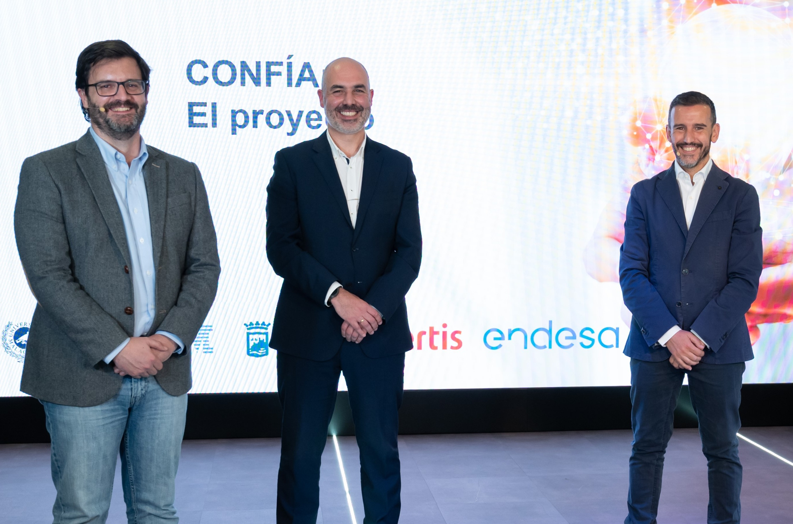 Promotores del proyecto Confía, de Endesa.