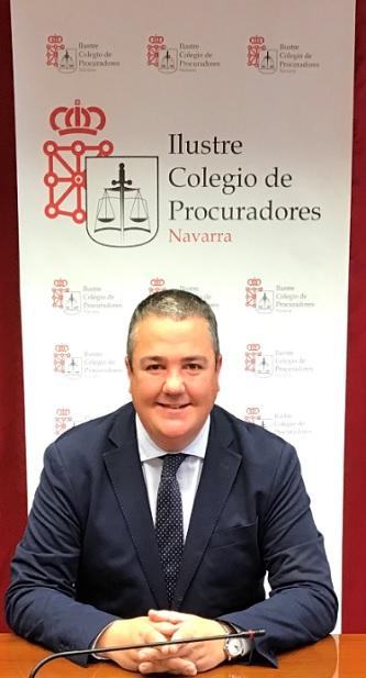 Jaime Ubillos, Decano del Ilustre Colegio de Procuradores de Navarra y miembro de la Comisión de Nuevas Tecnologías del Consejo General de Procuradores de España.
