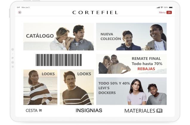 Cortefiel landing page