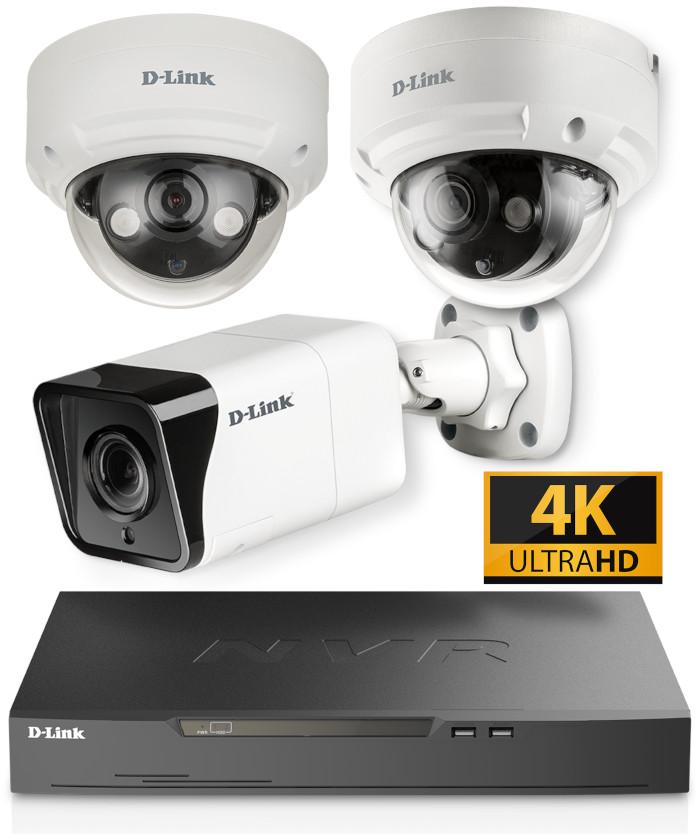 D-Link Vigilance camaras CCTV NVR 4K videovigilancia pro.