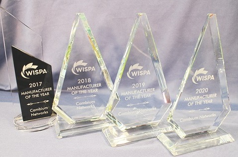 """Cambium Networks, """"fabricante del año"""" 2020 por WISPA."""
