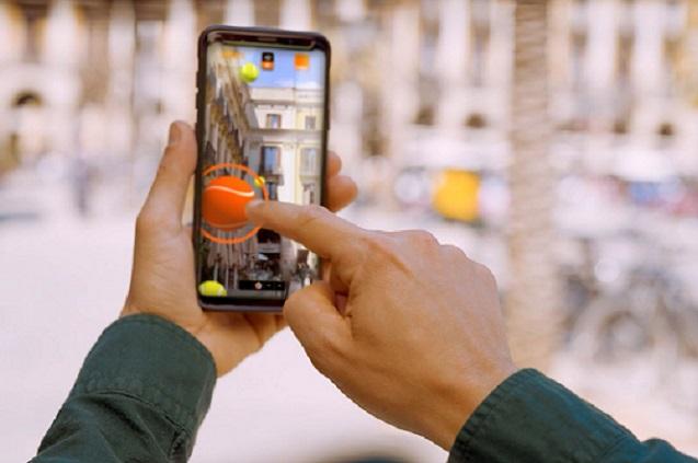 Gaming web AR potenciada por la conexión 5G creada por Orange y Wildbytes.