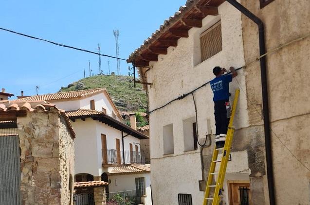 La fibra llega al municipio turolense de Ejulve.