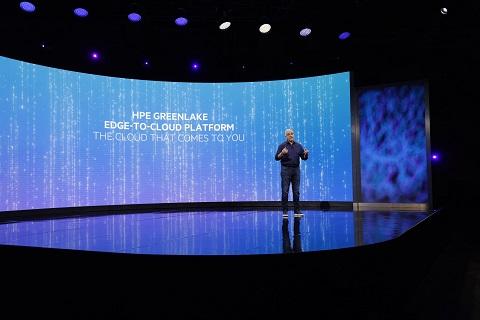 Antonio Neri, CEO de HPE, durante su intervención en la inauguración de HPE Discover 2021