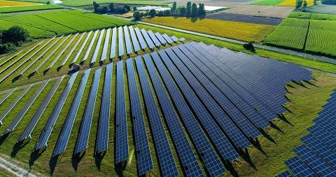 Parque de paneles solares de AWS.