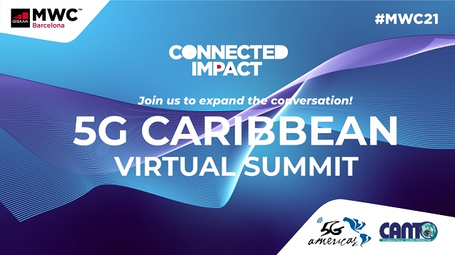 GSMA, 5G Americas y CANTO, coanfitriones de la Cumbre Virtual 5G del Caribe.
