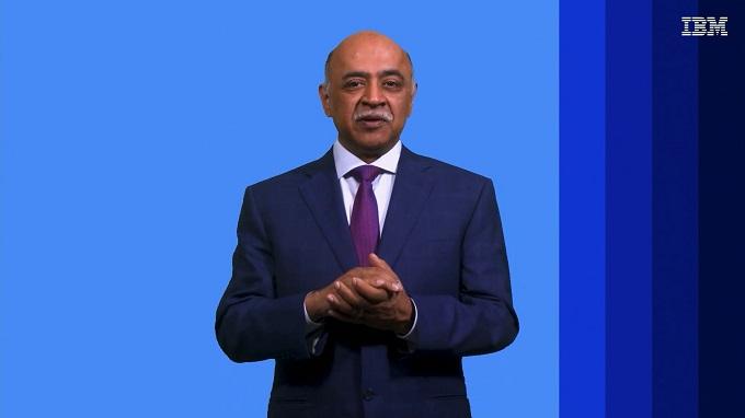 Arvind Krishna, CEO de IBM, en el Mobile World Congress 2021.