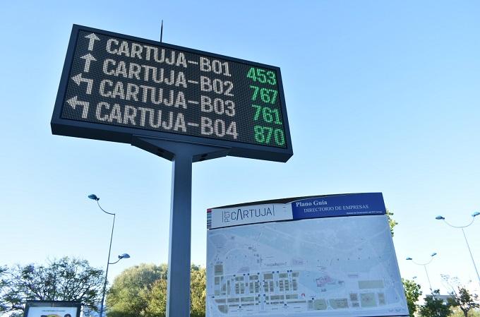 Sistema de smart parking de PCT Cartuja, Sevilla.