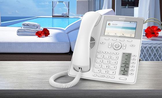 Snom presenta sus soluciones para un hotel UX 4.0.