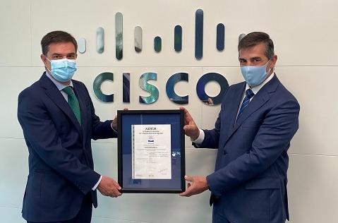 AENOR certifica la seguridad cloud de Cisco Webex.
