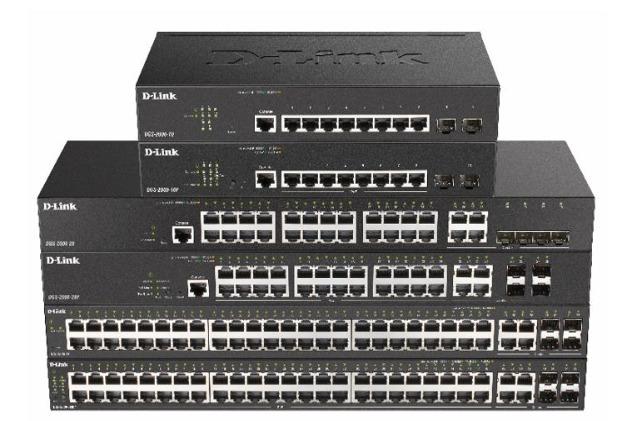 Switches gigabit managed DGS-2000 de D-Link.
