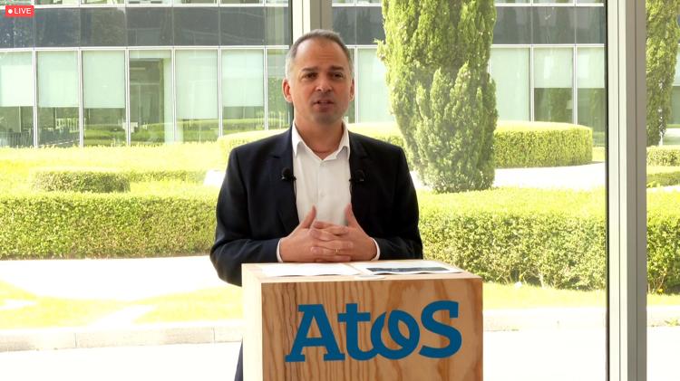 Elie Girard, CEO de Atos, durante la rueda de prensa del Technology Days 2021