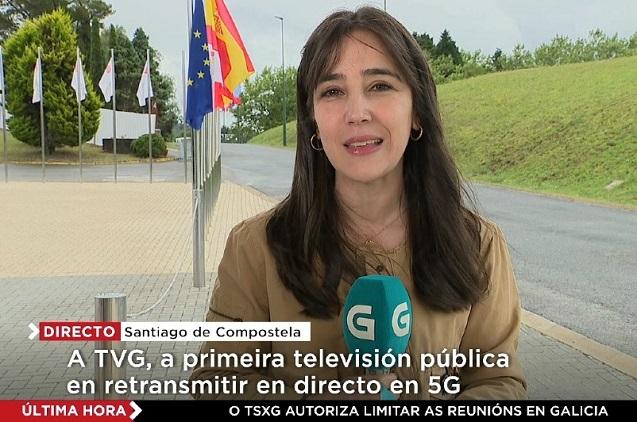 Televisión de Galicia retransmite en directo con la 5G de Telefónica.
