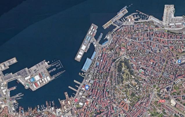 Mapa del Puerto de Vigo.