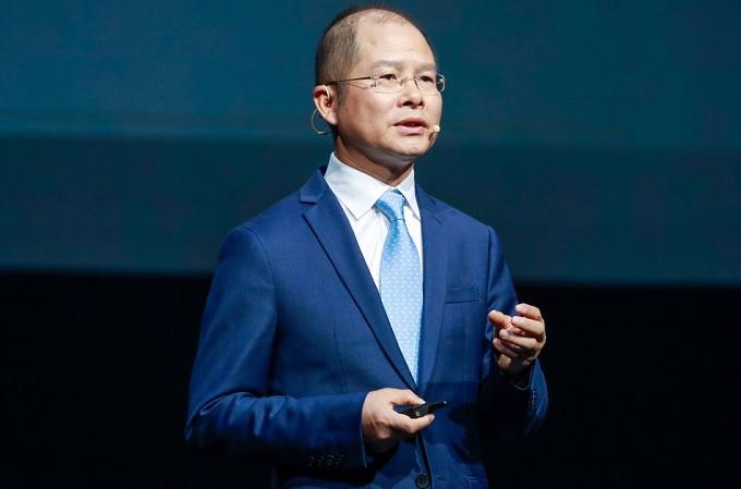 El presidente rotatorio de Huawei, Eric Xu, pronuncia el discurso de apertura de Huawei Connect 2021
