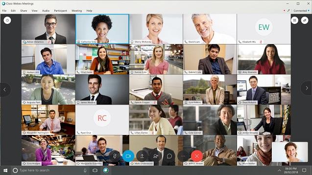 La mitad de los participantes no hablan en las videoconferencias.