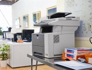 Impresora de HP en una oficina.