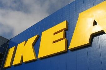 Logo en una tienda de Ikea.