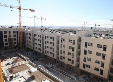 Viviendas en construcción.