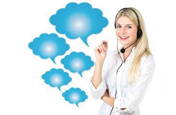 call, center, nube,