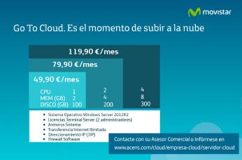 MoviStar lleva la nube a las pymes como Go To Cloud