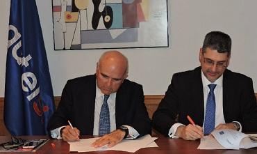 Leandro Pérez Manzanera, presidente de Autelsi, y Marcos Navarro, presidente de EOA