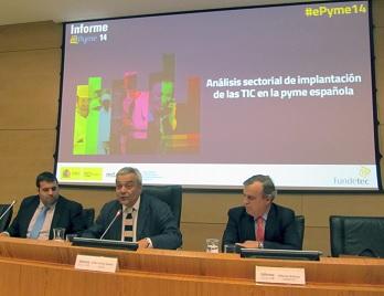 Victor Calvo-Sotelo, secretario de Estado de Telecomunicaciones en la presentación del Informe ePyme 14