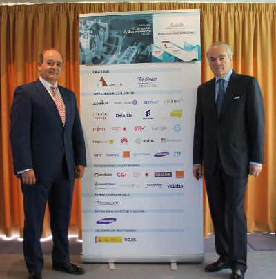 Benigno Lacort, director general de AMETIC (izq.) y el presidente José Manuel de Riva
