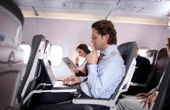 Conectividad en un avión