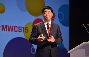 Ken Hu, CEO de Huawei en su intervención en el MWCS 2015.