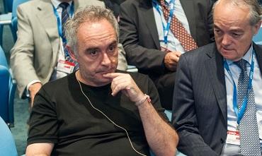 Ferran Adrià junto a José Manuel de Riva, presidente de Ametic