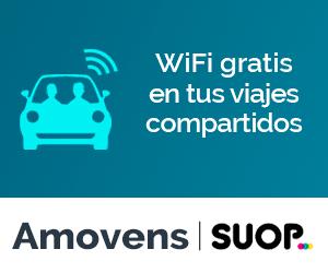 Wi-Fi en coche compartido.