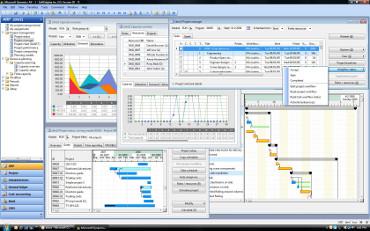 Captura de pantalla de la interfaz de Dynamics AX