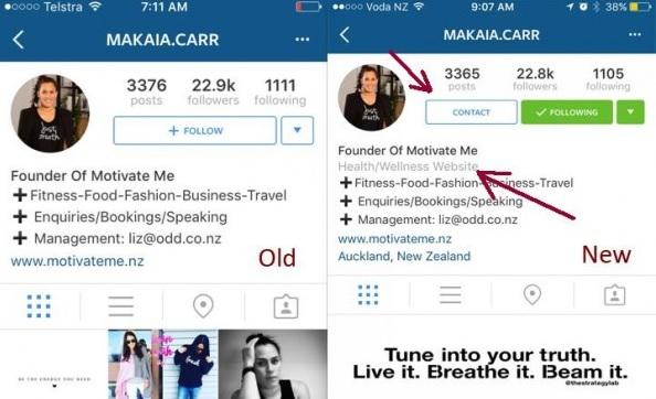 Perfil corporativo en Instagram