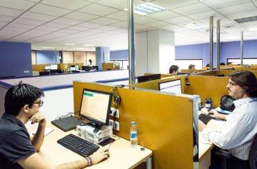 Oficinas de una empresa tecnológica.