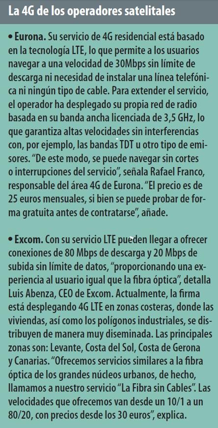 La 4G de los operadores satelitales