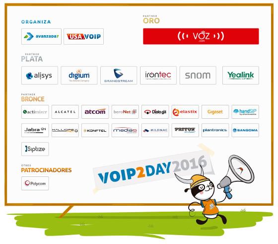 Patrocinadores evento VoIP2DAY