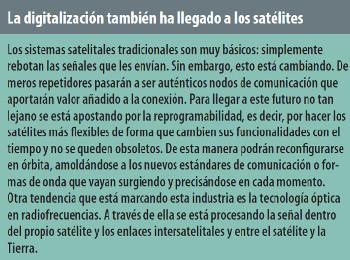 La digitalización también ha llegado a los satélites.