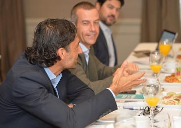 Santiago Arellano, de Exclusive Networks, en la mesa sobre GDPR.