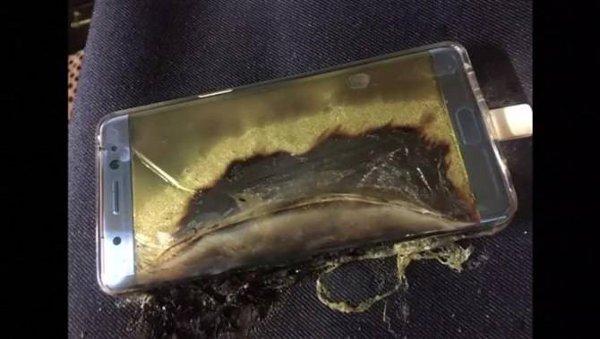 Galaxy Note 7 quemado.
