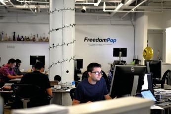 FreedomPop oficina.