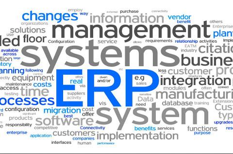 Nube de términos en torno al ERP.