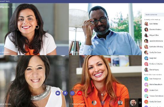 Sesión de videoconferencia con Microsoft Teams.