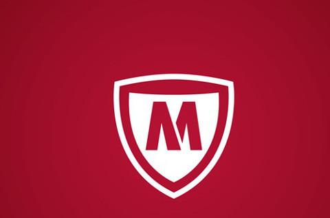 Logo de la nueva McAfee.