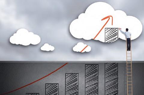 Ascenso del negocio del cloud público en todo el mundo.