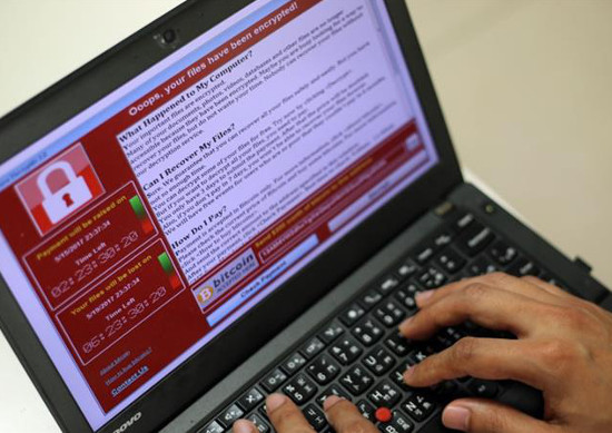 Ransomware WannaCry.