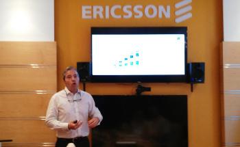 Iván Rejón, director de estrategia, marketing y comunicación de Ericsson, durante la presentación de un informe sobre 5G.