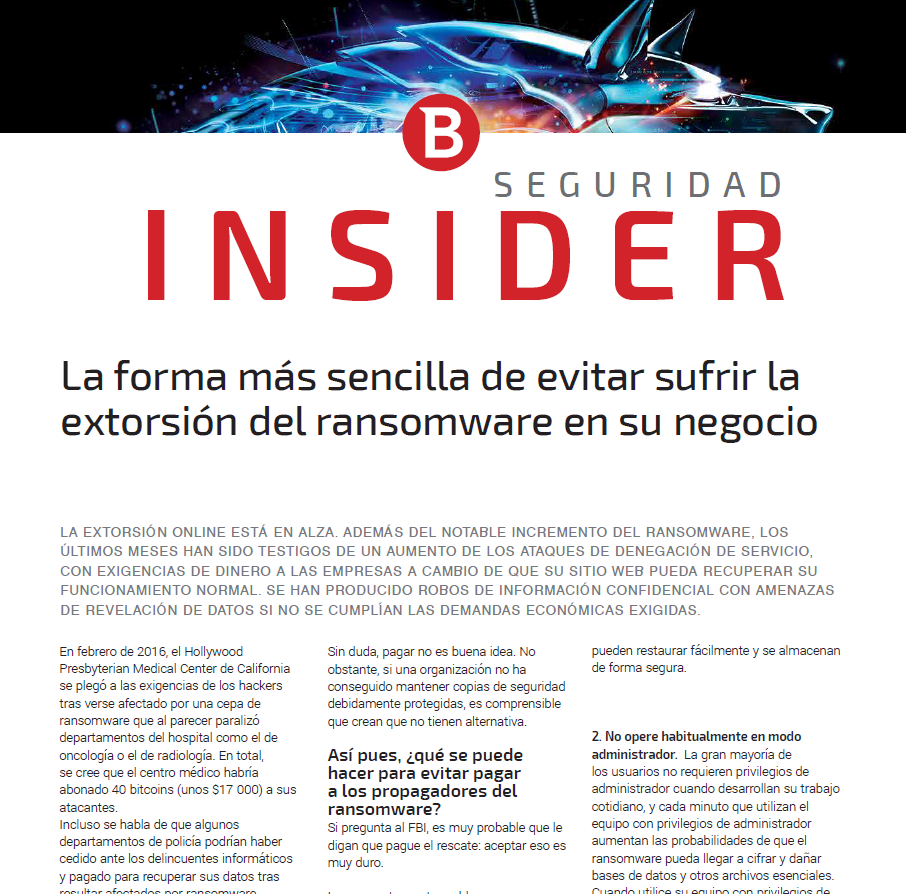 La forma más sencilla de evitar sufrir la extorsión del ransomware en su negocio