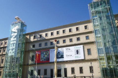 Ascensores de Fain en el Museo Reina Sofia de Madrid.